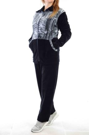 купить Велюровый женский спортивный костюм