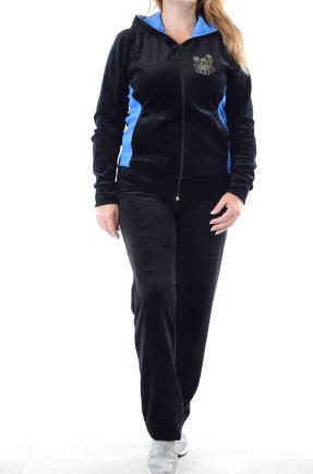 Велюровый женский спортивный костюм K118-2