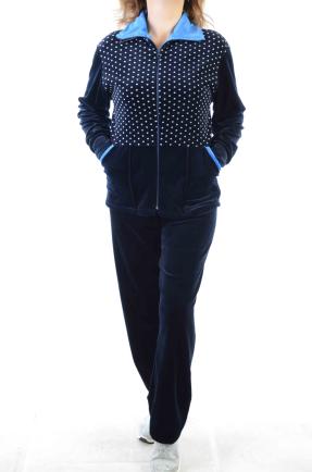 Велюровый женский спортивный костюм K136