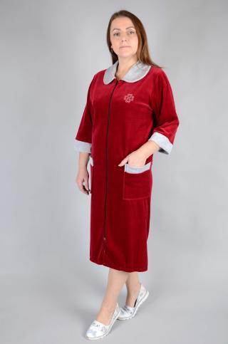 Купить оптом велюровый халат