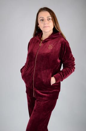 Велюровый женский спортивный костюм K131-1